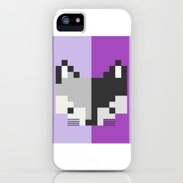 Mapache pixel iPhone Case