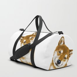 Smile Shiba Inu Duffle Bag