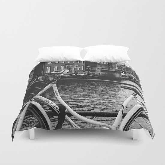 Amsterdam Bicycle Duvet Cover