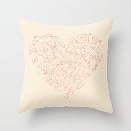 Penis Heart Throw Pillow