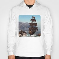 pirate ship Hoodies featuring Pirate Ship by Simone Gatterwe