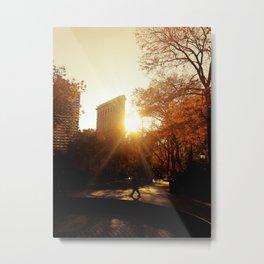 Flatiron Building Sunset - New York City Metal Print
