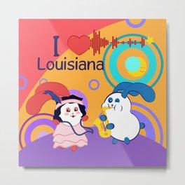 Ernest and Coraline | I love Louisiana Metal Print