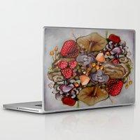 alice wonderland Laptop & iPad Skins featuring Wonderland by HeatherIRELANDArtz