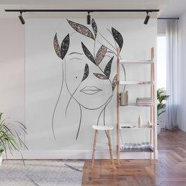 Glitter Lady #3 #minimal #line #art #society6 Wall Mural