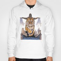 cincinnati Hoodies featuring Cincinnati Bengal Tiger by The Groundbird