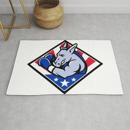 American Donkey Boxer USA Mascot Rug