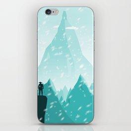 Traveller- winter iPhone Skin