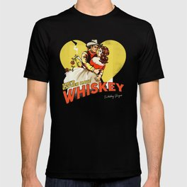 """""""She'd Rather Have Whiskey"""" Vintage Western Art T-shirt"""