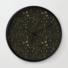 Old World Florals Wall Clock