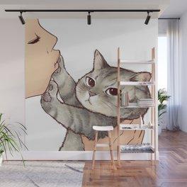 cat : hmmmmm! Wall Mural