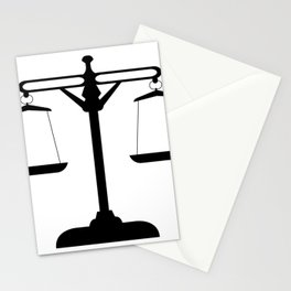 weight scale Stationery Cards