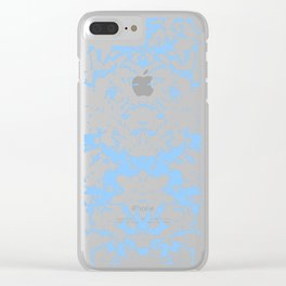 Blue Abstract Stars Clear iPhone Case
