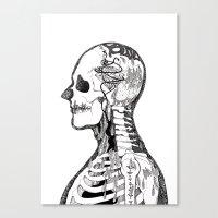 gorillaz Canvas Prints featuring Demon Days ~ A. by Sára Szabó