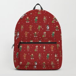 Christmas Winter Red Pattern Backpack