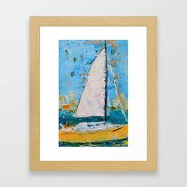 Splendor - Sailboat Framed Art Print