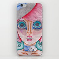 poker iPhone & iPod Skins featuring poker face by Scenccentric Creations