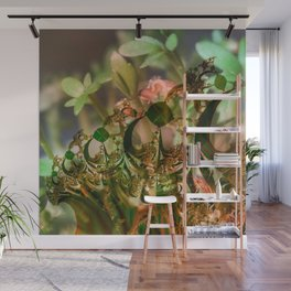 Natural and fractal seedlings Wall Mural