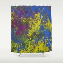 Clouded Judgement - Abstract Modern Painting Shower Curtain