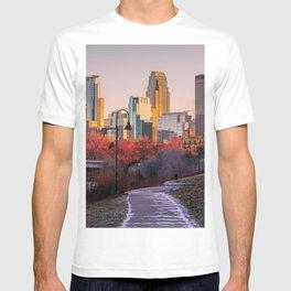 Minneapolis Skyline from River Walk T-shirt