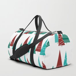 Turquoise and Cranberry Duffle Bag