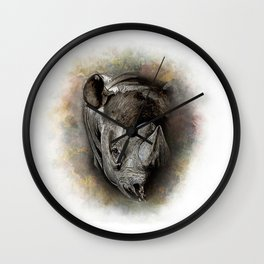 Black Rhino Watercolor Portrait Wall Clock