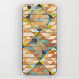Triangles and Circles Pattern no.23 iPhone Skin