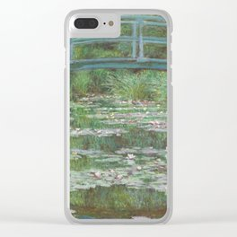 Claude Monet The Japanese Footbridge 1899 Painting Clear iPhone Case