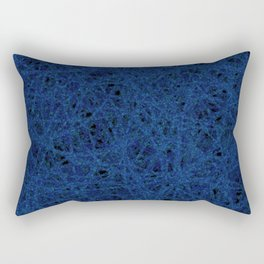 Slate Blue Thread Texture Abstract Rectangular Pillow