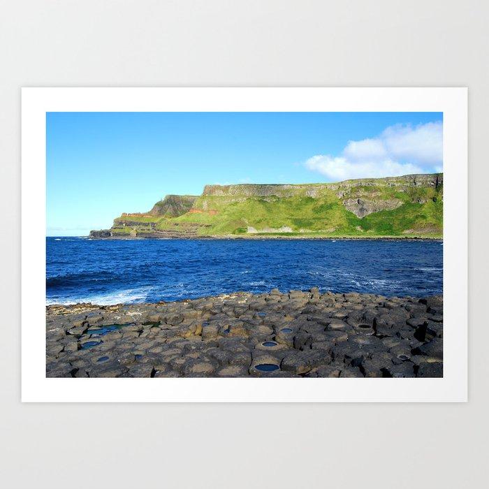 Gigant's Causeway. Antrim Coast. Northern Ireland Art Print