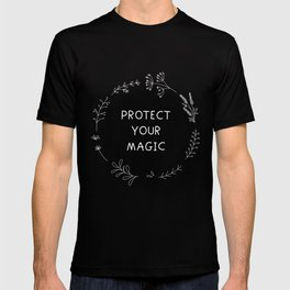Protect Your Magic - black T-shirt