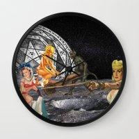 pagan Wall Clocks featuring Pagan Circle by Marina Poison