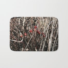 Thorned Berries of Winter Bath Mat
