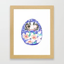 Sakura Daruma Framed Art Print