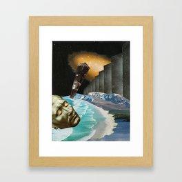 nebula - collage Framed Art Print