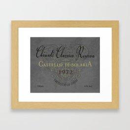 Vintage Wine Label Print (Chianti Classico) Framed Art Print