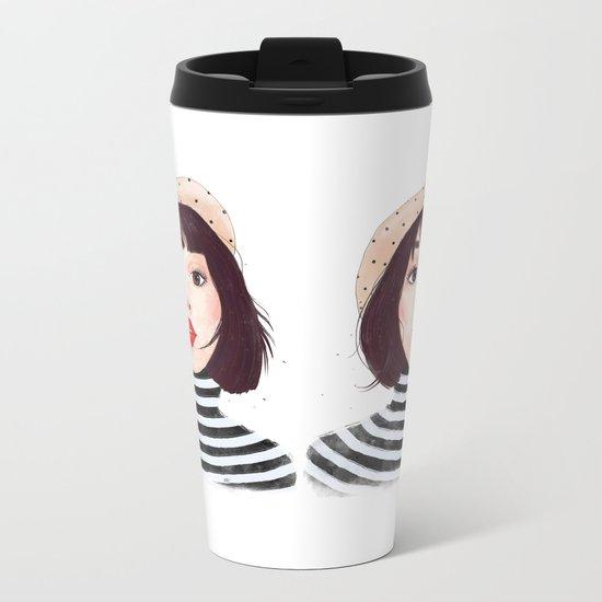 French woman Metal Travel Mug