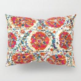 Suzani Flowers Uzbekistan Low Poly Geometric Triangles Print Pillow Sham