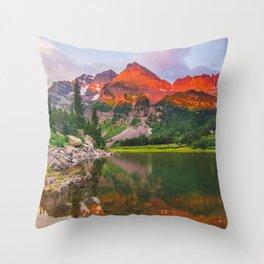 Rocky Mountain Glow Throw Pillow