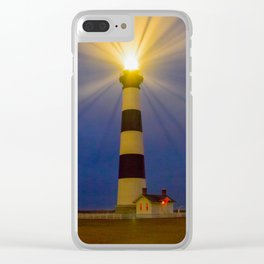 Bodie Lighthouse (color) Clear iPhone Case
