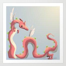 Pastel Dragon Art Print