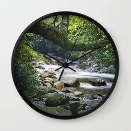 Smoky Mountain Stream in Tennessee Wall Clock