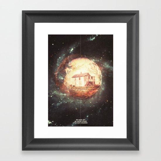 An Untidy House Framed Art Print