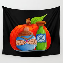 Pumpkin and Potions Wall Tapestry