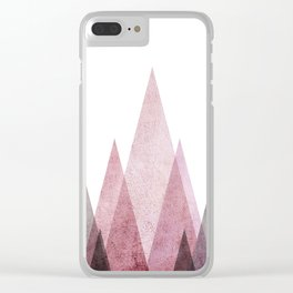 Geometric Mountains Clear iPhone Case