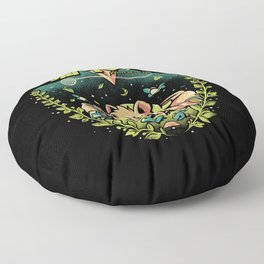 A Kitty to the past Floor Pillow