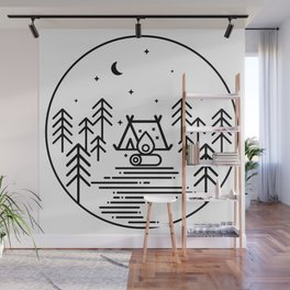 Camping in the Great Outdoors / Geometric / Nature / Camping Shirt / Outdoorsy Wall Mural