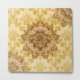 Stylish Gold Mandala Metal Print