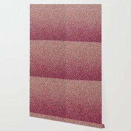 Pastel Pink Ombre Glitter Wallpaper