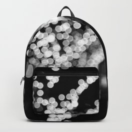 Twinkle Lights - Holiday Lights in Black and White Backpack